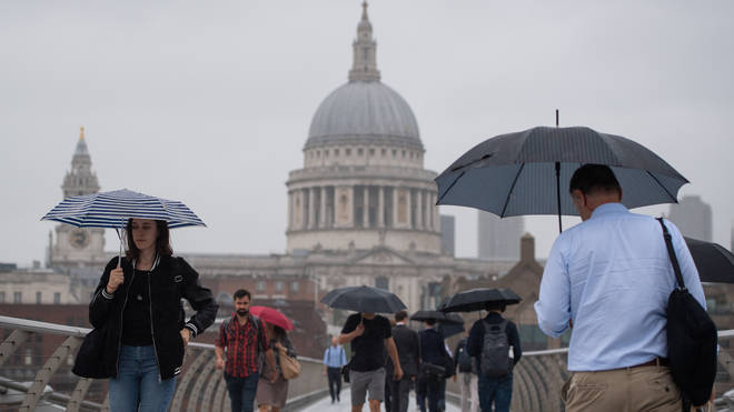 Weather warning: Heavy rainfall is expected across parts of the UK