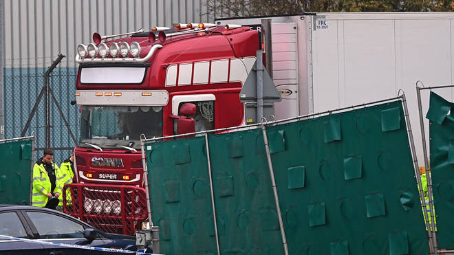 The bodies of 39 migrants were found in the lorry in Essex