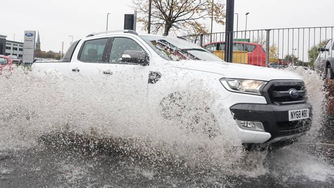 Three weeks of rain has fallen across the UK in just 36 hours