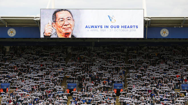 Vichai Srivaddhanaprabha died in a helicopter crash at Leicester City's ground