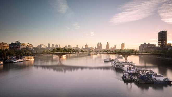 The Garden Bridge: How it would have looked