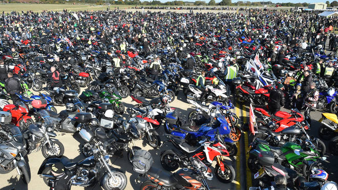 Thousands of riders gathered to show their respect to PC Andrew Harper