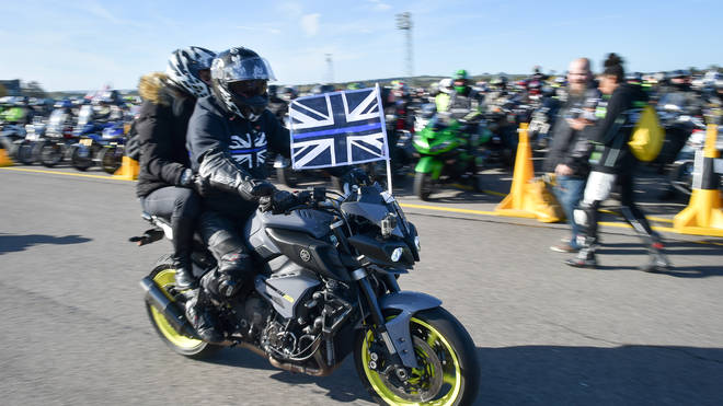 Riders drove at 28mph, the age PC Harper was when he died
