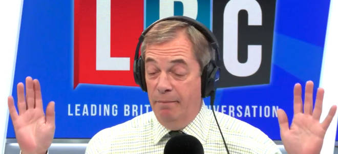 Nigel Farage Gives Up On Lib Dem Caller Who Wants 'United States Of Europe'