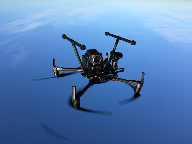 One of the police drones used by the tri-counties team