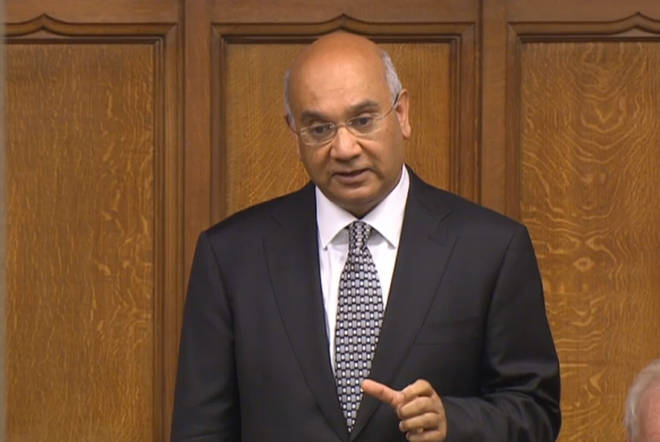 Labour MP Keith Vaz speaking in the House of Commons