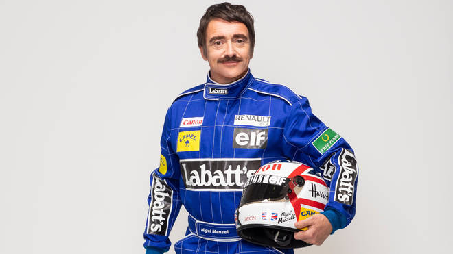 The Grand Tour presenter Richard Hammond as Formula One World Champion Nigel Mansell