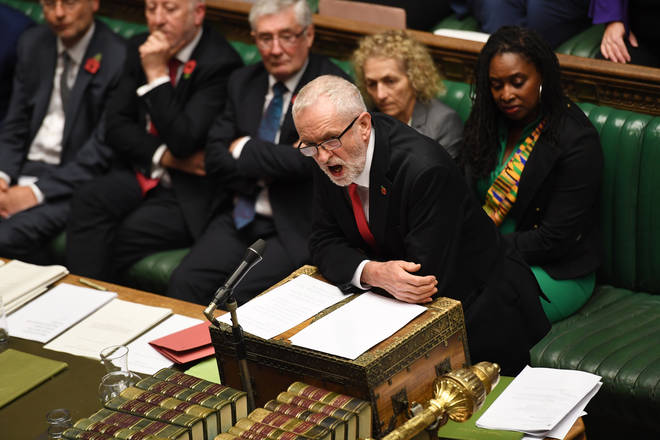 The Labour leader addressing the House of Commons