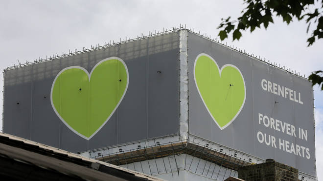 Grenfell Tower memorial on the 2nd commemoration of the fire