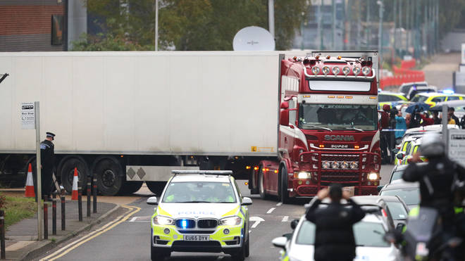 The eight women and 31 men were found in the back of a refrigerated lorry on Wednesday