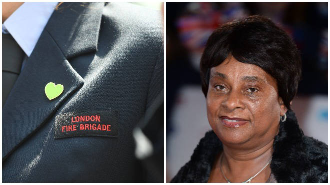 Doreen Lawrence apologised to firefighters for her remarks