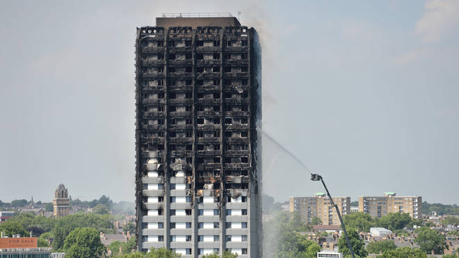 The west London tower block following the blaze
