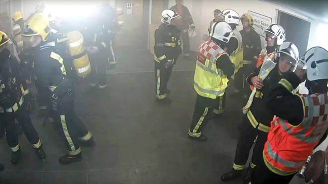 The LFB Commissioner was at the scene on the night of the fire