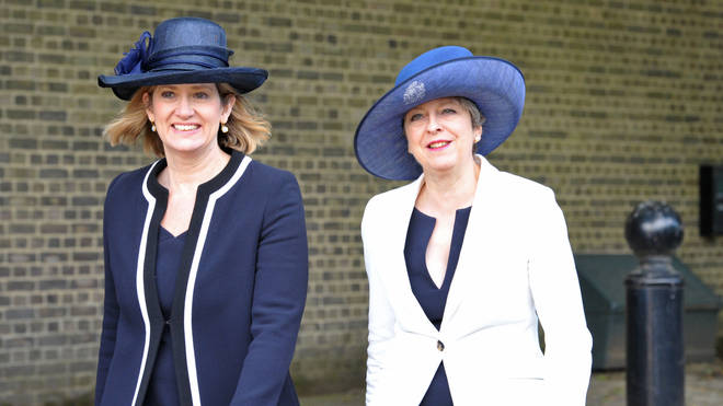 Ms Rudd served as home secretary under Theresa May