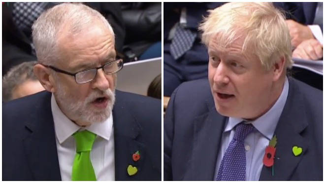 Jeremy Corbyn and Boris Johnson have clashed at PMQs following a vote to hold an election