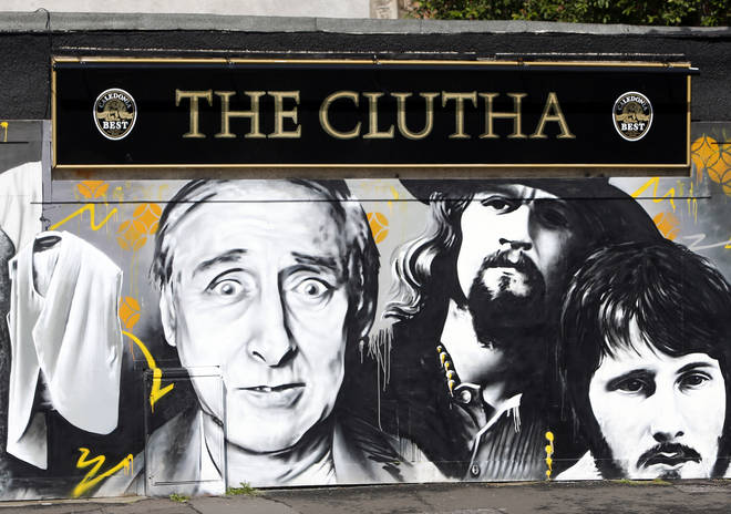 A mural painted at the Clutha bar