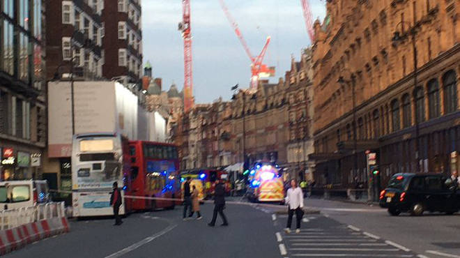 "Harrods is on lockdown following a ""chemical spill"""