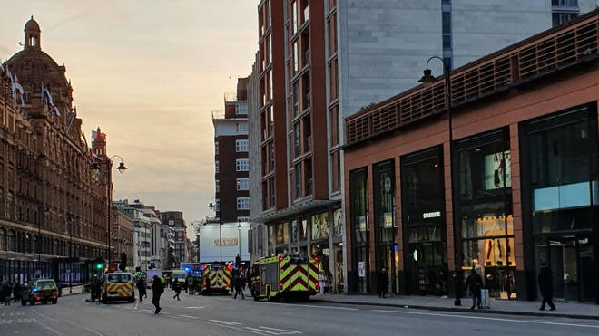 The scene as emergency services respond