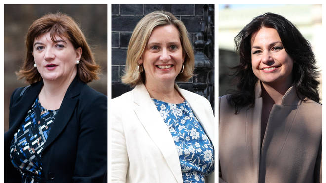 (left to right) Nicky Morgan, Amber Rudd and Heidi Allen are not standing at the next election