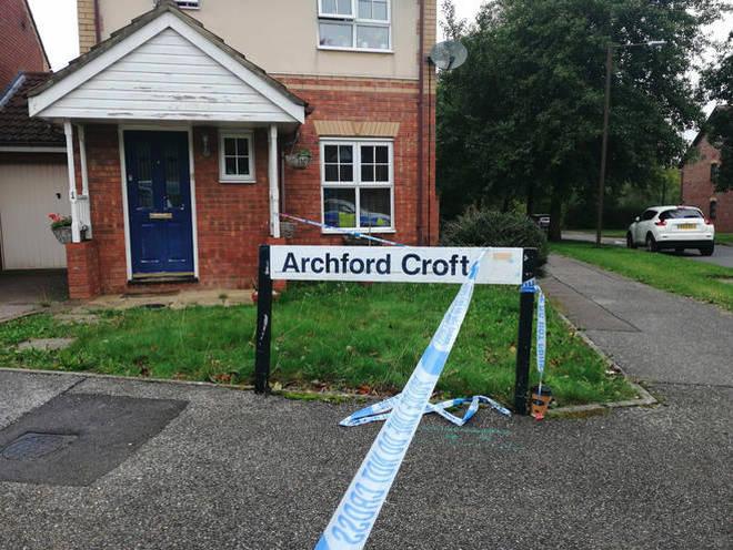 Police at the scene in Archford Close