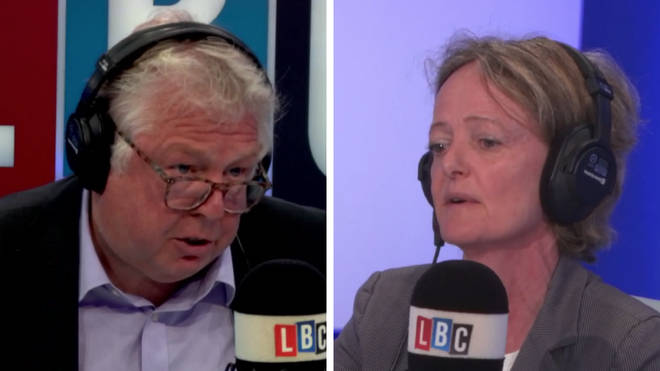 Nick Ferrari and Elizabeth Campbell in the LBC studio.