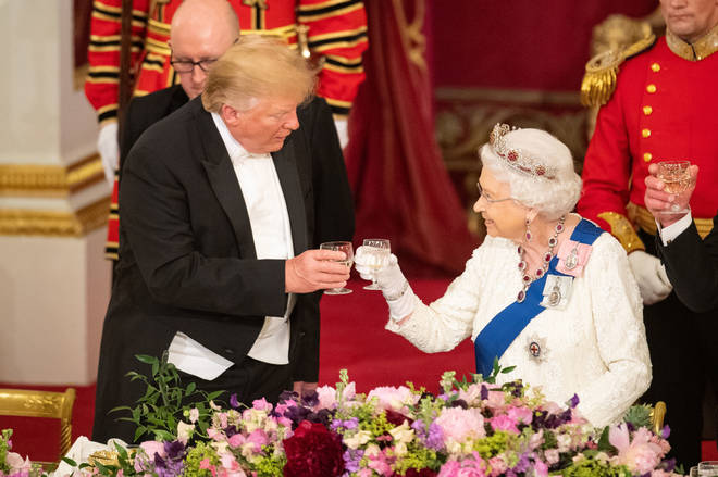 "The US President said he had a ""great time"" with Her Majesty"