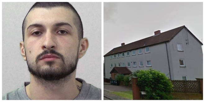 Denis Beytula attacked his partner and son at their home in Northumbria