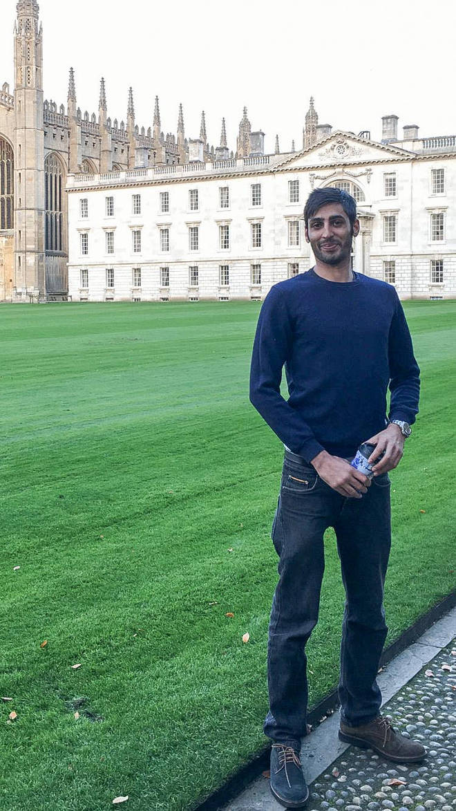 The 28-year-old was born in London but moved to Cambridge as a student
