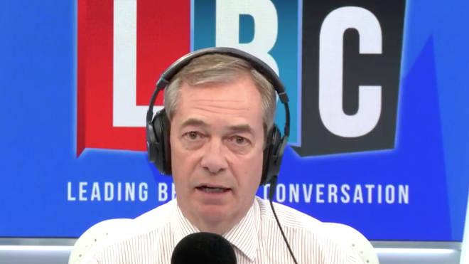 The President was speaking to Nigel Farage