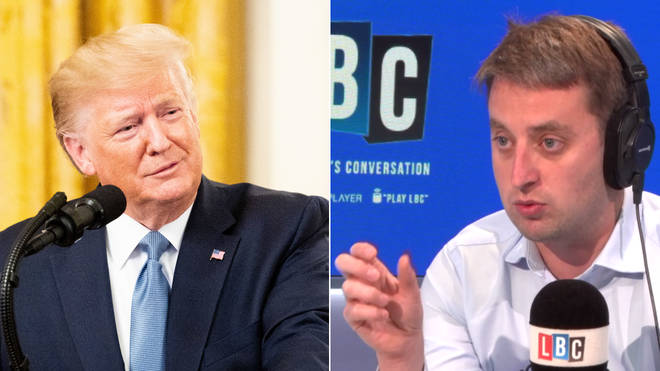 Donald Trump spoke to LBC on Thursday