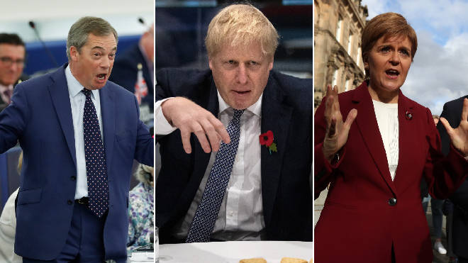 The SNP leader likened a pact between Nigel Farage and Boris Johnson to a Halloween monster