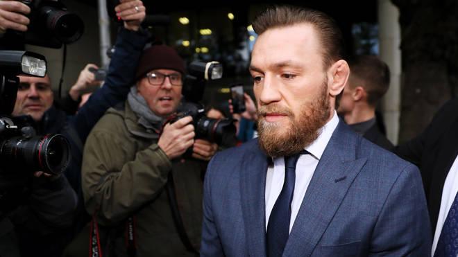 Conor McGregor leaving Dublin District Court