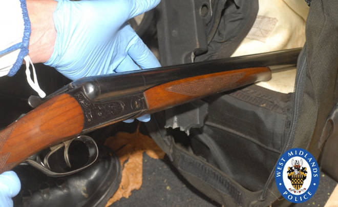 One of the guns police believe was used in the shooting