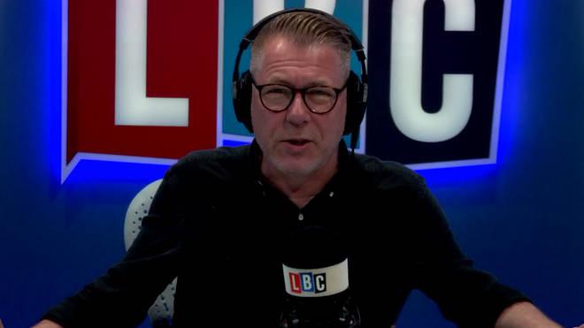 Ian Collins in the LBC studio