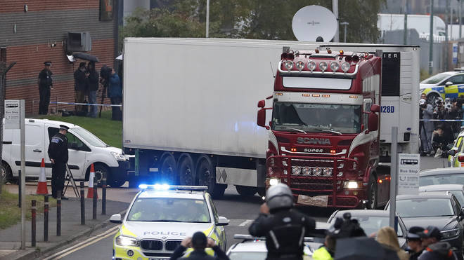The 39 migrants found in the back of the lorry were all Vietnamese, say police
