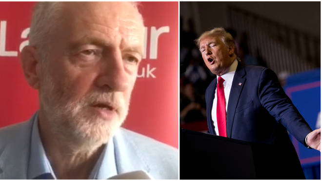Jeremy Corbyn Reacts To LBC'S Interview With Donald Trump