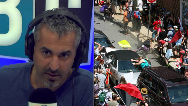 Maajid Nawaz was discussing the Charlottesville protests, where on woman was killed