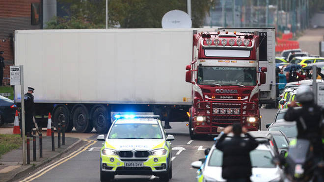 39 bodies were found in the back of the lorry trailer in Essex