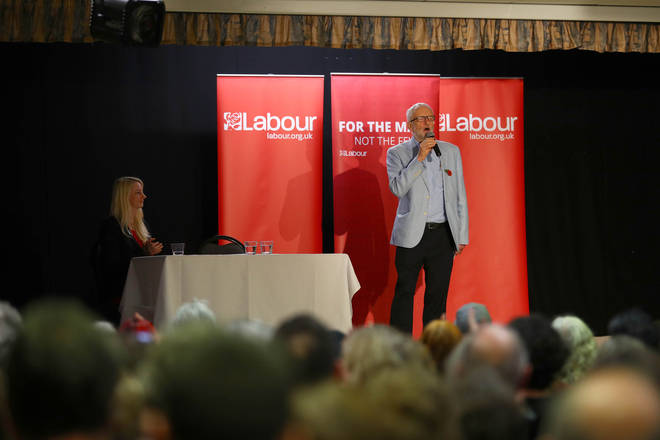 Labour leader Jeremy Corbyn at a rally in Filton, Bristol while on the general election campaign