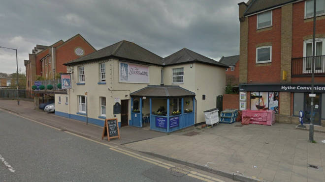 A man has died after a car hit the Spinnaker Inn pub in Colchester
