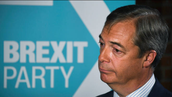 Mr Farage said his decision was the best way to serve Brexit