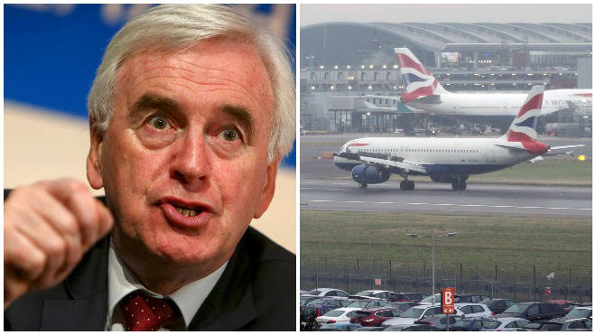 Labour could scrap the runway plan in a bid to tackle the climate crisis