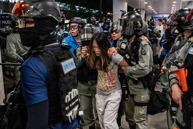 Police made several arrests at the Hong Kong shopping centres