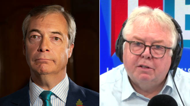 Nick Ferrari challenged Nigel Farage over his decision not to stand