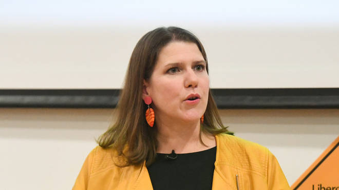 Jo Swinson's office was reportedly taped off on Monday