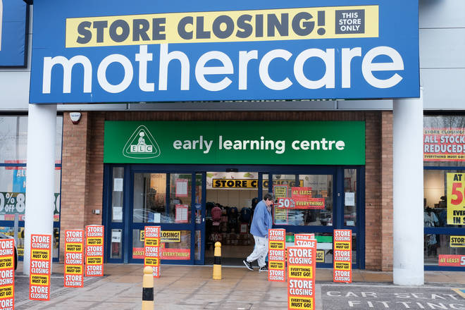 A branch of Mothercare in Colliers Wood, London, which is closing down.