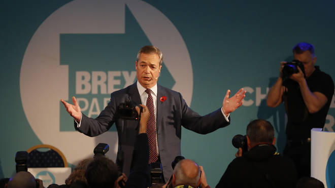 Nigel Farage said his party is the only one to offer Brexit