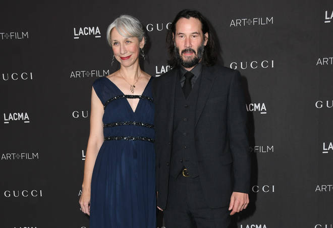 Keanu Reeves held hands with Alexandra Grant at the LACMA Art + Film Gala Presented By Gucci in Los Angeles