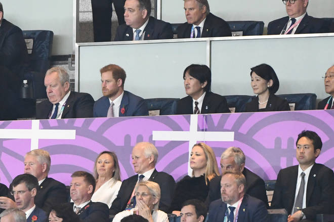 Prince Harry watching England play in South Africa