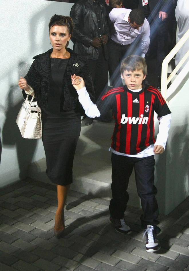 Victoria Beckham with a Hermes Birkin bag
